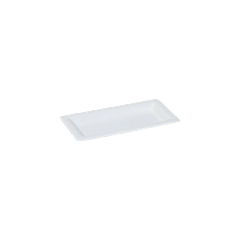 assiette rectangulaire karo en canne a sucre blanche. Black Bedroom Furniture Sets. Home Design Ideas