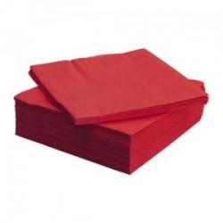 Serviettes rouge 1/4, 40x40 cm